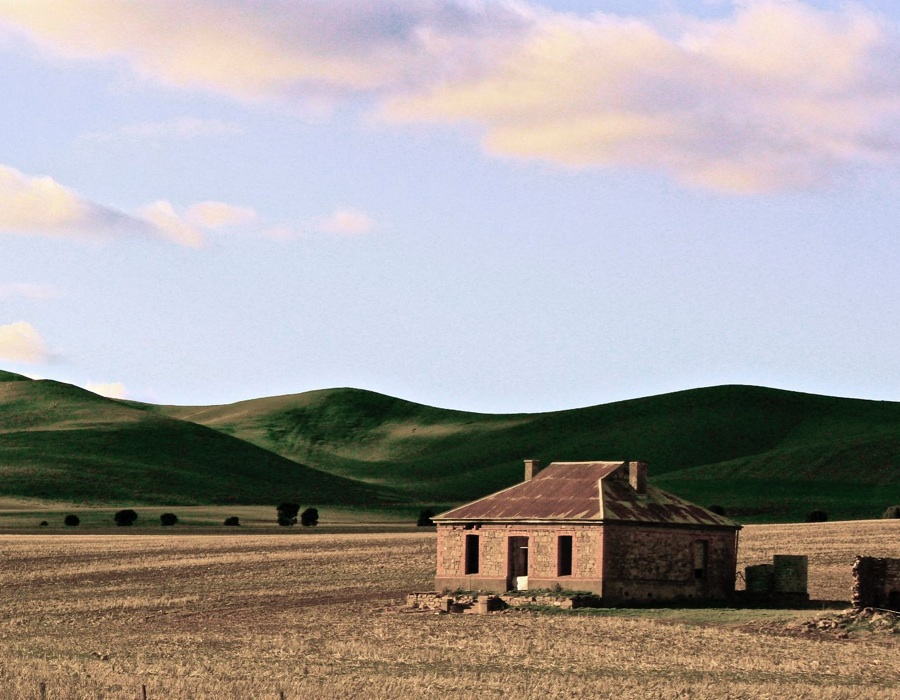 The Midnight Oil house, just out of Burra.
